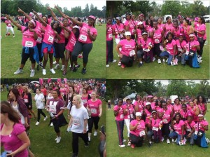 TZ Hair Salon taking part in Race for life